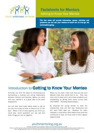 Getting to Know Your Mentee - Australian Youth Mentoring Network