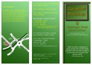 Printshop Prof leaflet - Waddington Street Centre
