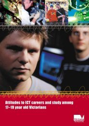 Attitudes to ICT careers and study among 17-19 year old Victorians