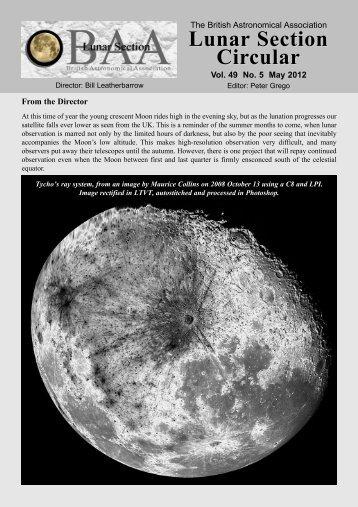 Vol 49, No 5, May 2012 - BAA Lunar Section