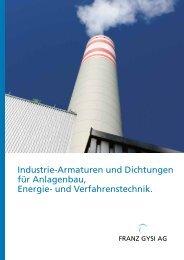 Industrie-Armaturen und Dichtungen für Anlagenbau ... - Franz Gysi
