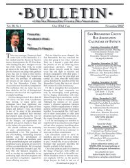 November 2007 Bar Bulletin is ONLINE. - San Bernardino County ...