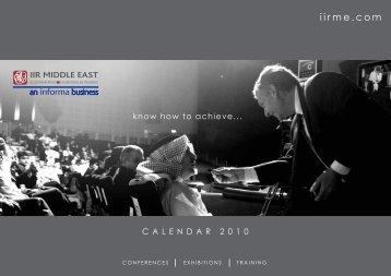 calendar 2010 - IIR Middle East