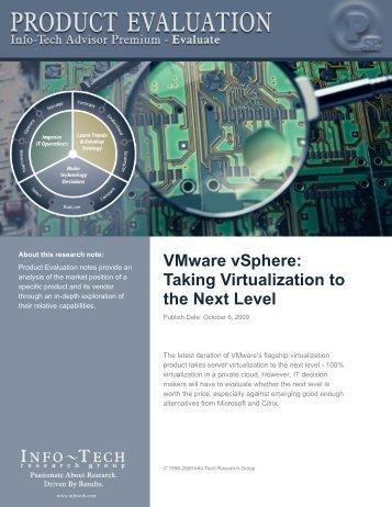 VMware vSphere - Info-Tech Research