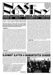 Číslo 5/2011 - Obec Palárikovo