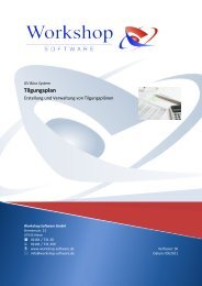 Tilgungsplan - Workshop Software GmbH