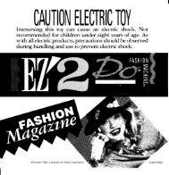 EZ 2 Do Fashion Machine 1992 - KennerCollector.com