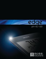 Hanna edge pH, EC and DO meter Information Sheet - Quasar ...