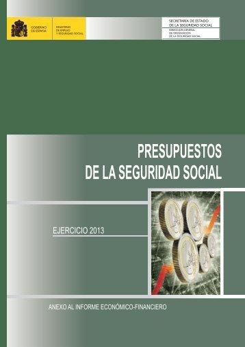 Anexo al Informe Económico-Financiero del ... - Seguridad Social