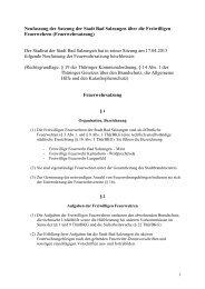 Satzung über die Freiwilligen Feuerwehren der Stadt Bad Salzungen