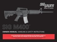 owners manual: handling & safety instructions - Sig Sauer