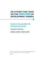 Health in the post-2015 UN development agenda