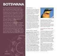 Botswana: Overview map & introduction - Expert Africa