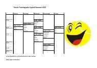 Tennis Trainingsplan Jugend Sommer 2012 - SV Hoffeld