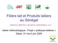 Filière lait et produits laitiers au Sénégal - REPOL
