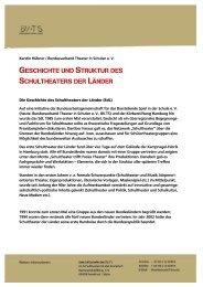 geschichte und struktur des schultheaters der länder - BV.TS