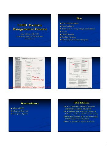 COPD Maximize Management to Function - Continuing Medical ...
