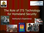 ITS Applications for Homeland Security - ITS Midwest