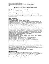 Referat fra Landsmødet - Metodistkirken i Danmark