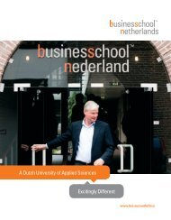Brochure MBA - Business School Netherlands