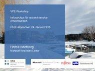 Infrastruktur für rechenintensive Anwendungen - bei der IG VPE Swiss
