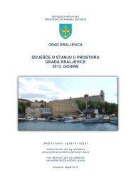 Izvješće o stanju u prostoru 2013 - Grad Kraljevica