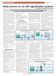 Study focuses on six LNG regasification systems - CB&I