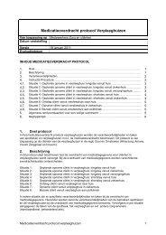 Medicatieoverdracht protocol Verpleeghuizen