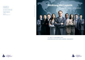 Dreiklang der Logistik: - Club of Logistics