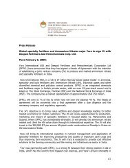 Global Specialty Fertiliser and Ammonium Nitrate Major Yara to Sign ...