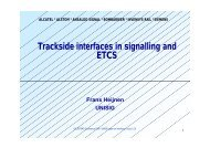 Trackside interfaces in signalling and ETCS - UIC