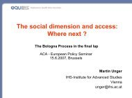The social dimension and access: Where next ? - equi am IHS