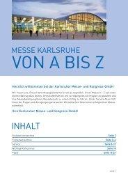 messe karlsruhe von a bis z - Karlsruher Messe- und Kongress-GmbH