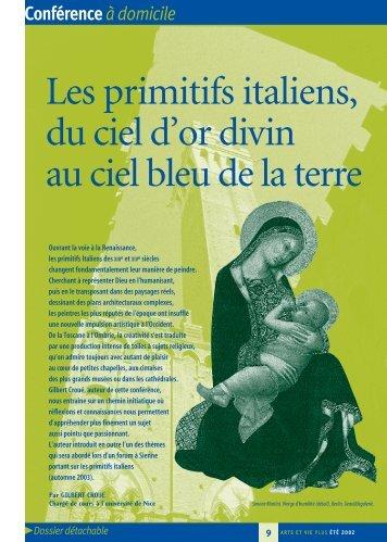 Les primitifs italiens, du ciel d'or divin au ciel bleu de la ... - Arts et Vie