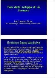 Fasi dello sviluppo di un farmaco Evidence Based ... - Farmacia