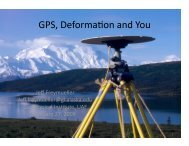 Summary of GPS applications - Jeff Freymueller