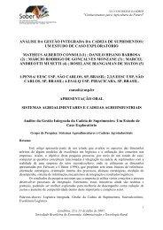 análise da gestão integrada da cadeia de suprimentos - Markestrat