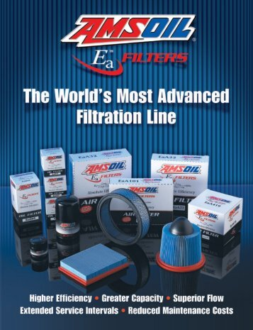 AMSOIL EaA Air Filters - Synthetic Motor Oil