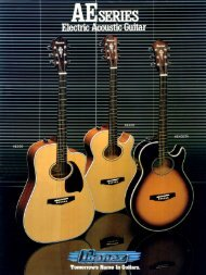 Page 1 Page 2 AE SERIES Several years ago IBANEZ developed ...