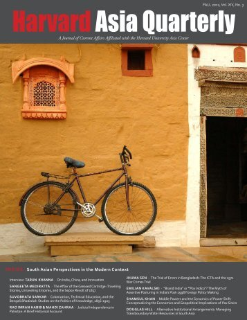 HarvardAsia Quarterly - South Asia Institute - Harvard University