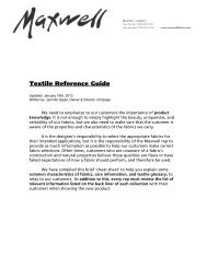 Textile Reference Guide - Maxwell Fabrics