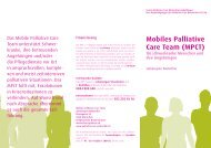 Mobiles Palliative Care Team (MPCT) - palliative zh+sh