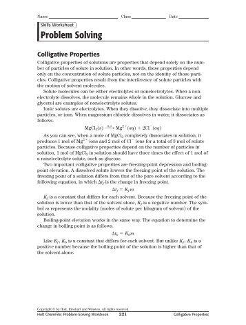 CHEMISTRY COLLIGATIVE PROPERTIES ... - kurtniedenzu