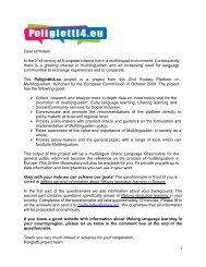 download the questionnaire - Poliglotti 4