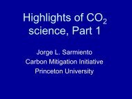 Highlights of CO 2 Science, Part I - Carbon Mitigation Initiative ...