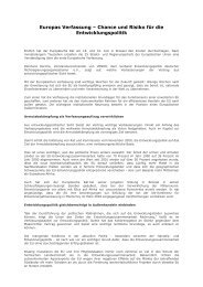 Europas Verfassung – Chance und Risiko für die ... - Venro