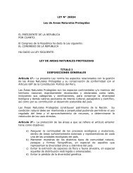LEY N° 26834 Ley de Areas Naturales Protegidas EL ... - Fonam