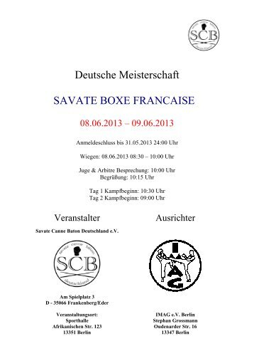 Deutsche Meisterschaft SAVATE BOXE FRANCAISE