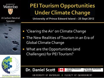 PEI Tourism Opportunities under Climate Change - UPEI Projects