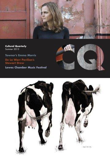 Summer 13 - Cultural Quarterly Online